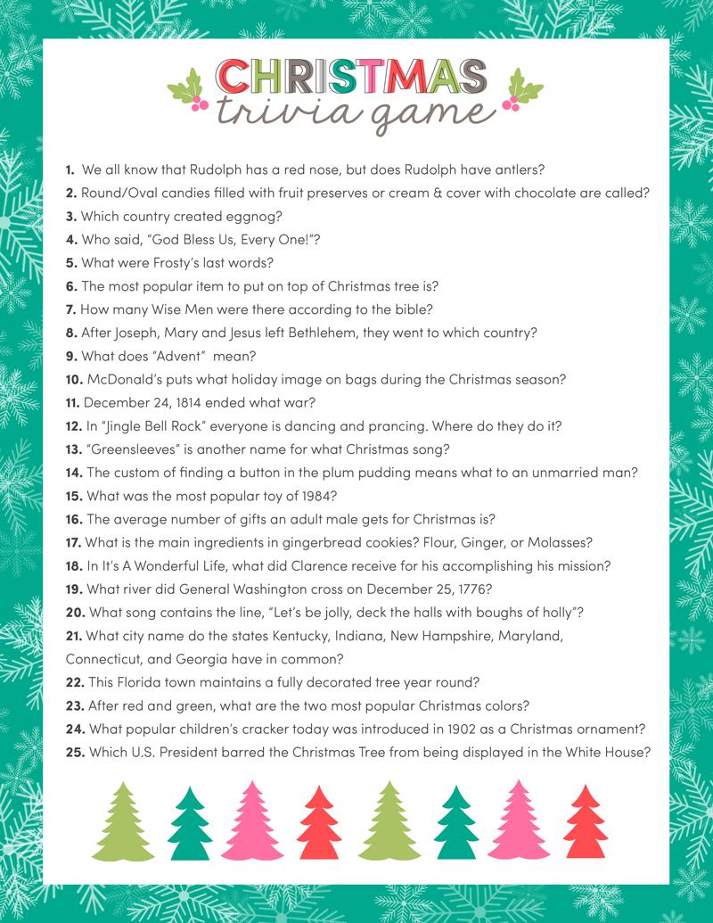 Free Christmas Trivia Game | Lauterwasser | Christmas Trivia - Free Printable Religious Christmas Games