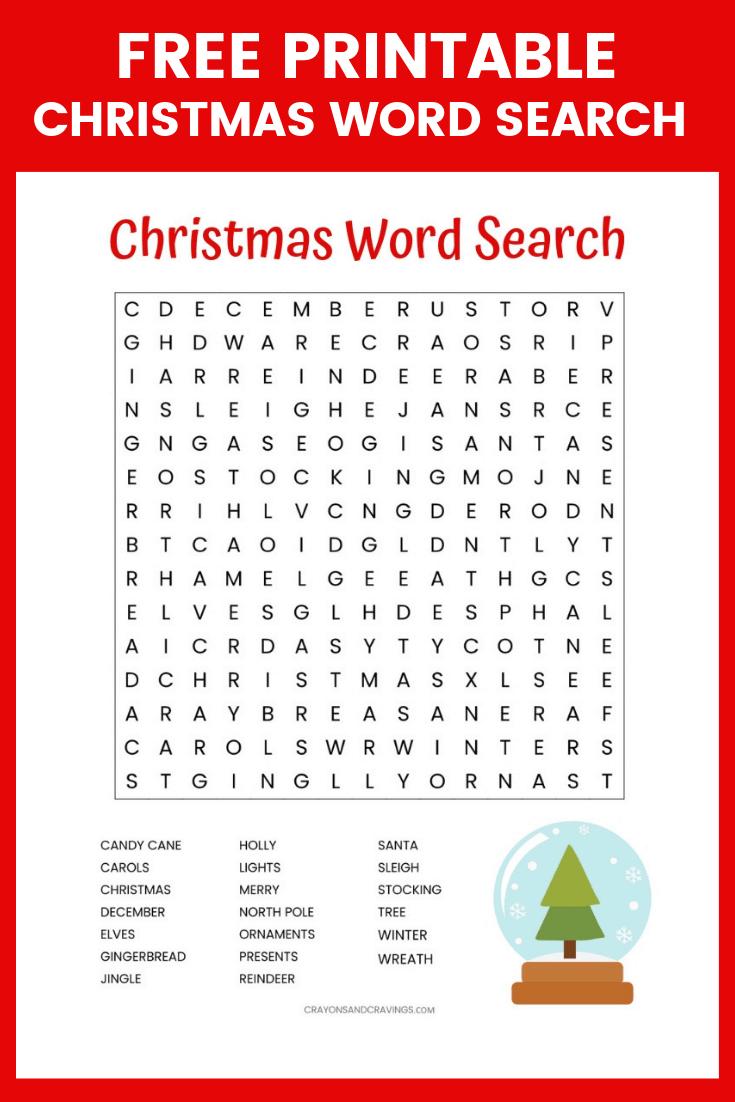 Free Christmas Word Search Printable Worksheet With 20 Christmas - Free Printable Christmas Word Games