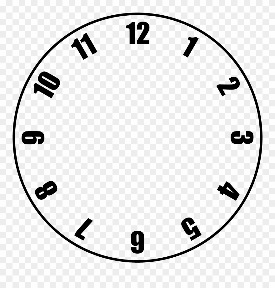 Free Clock Face Template - Clock With No Hands Clipart (#11415 - Free Printable Clock Faces