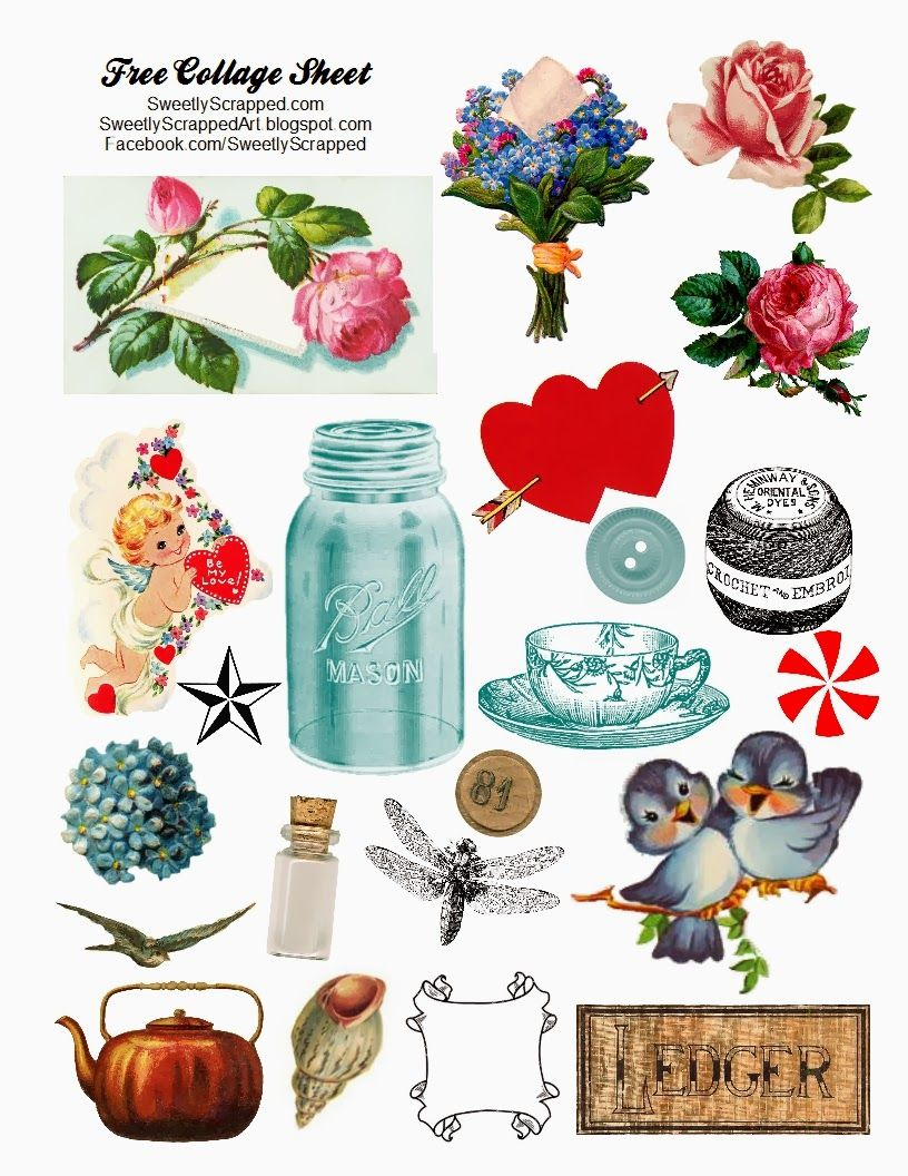 Free Collage Sheets | Free Digital Collage Sheet | Printables - Free Printable Digital Collage Sheets