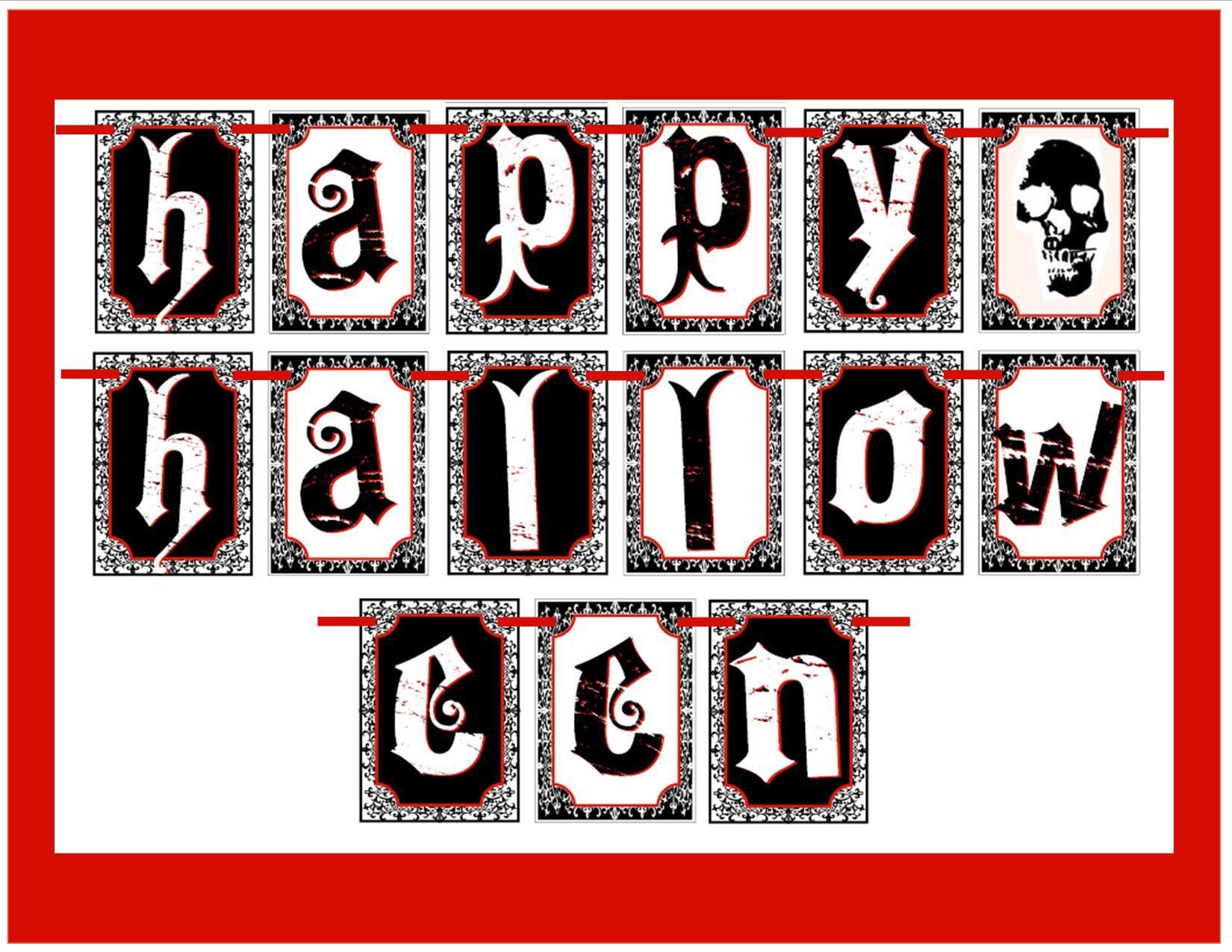 Free Creepy Halloween Printables | Nightmare Before Christmas - Free Printable Halloween Banner