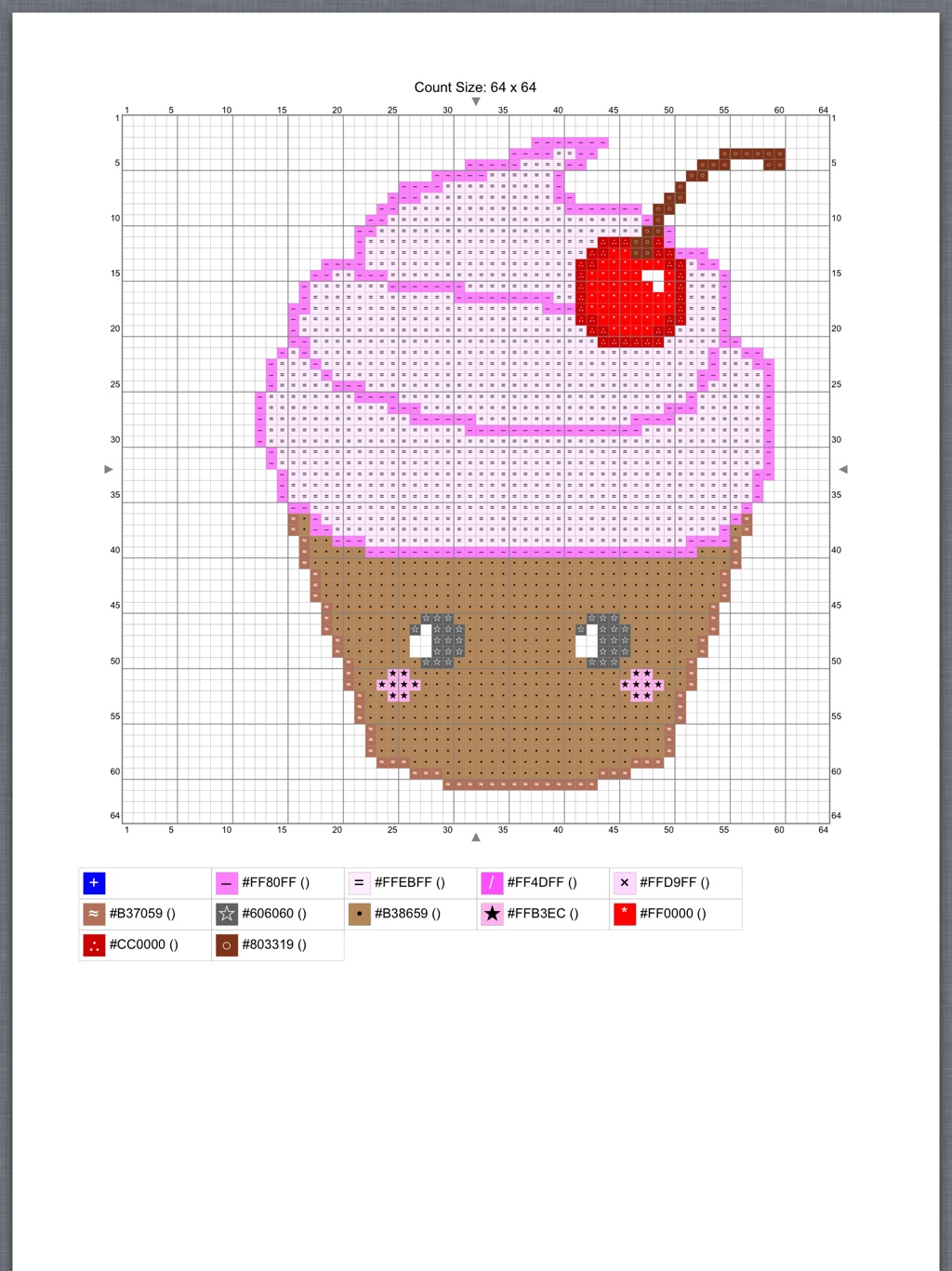 Free Cross Stitch Pattern | Kawaiiblythe - Free Printable Cross Stitch