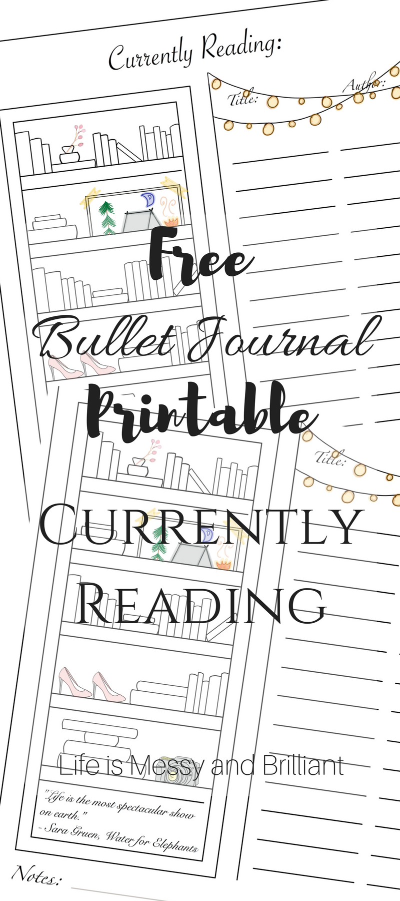 Free Currently Reading Bullet Journal Printable Tracker | Bullet - Free Printable Reading Recovery Books