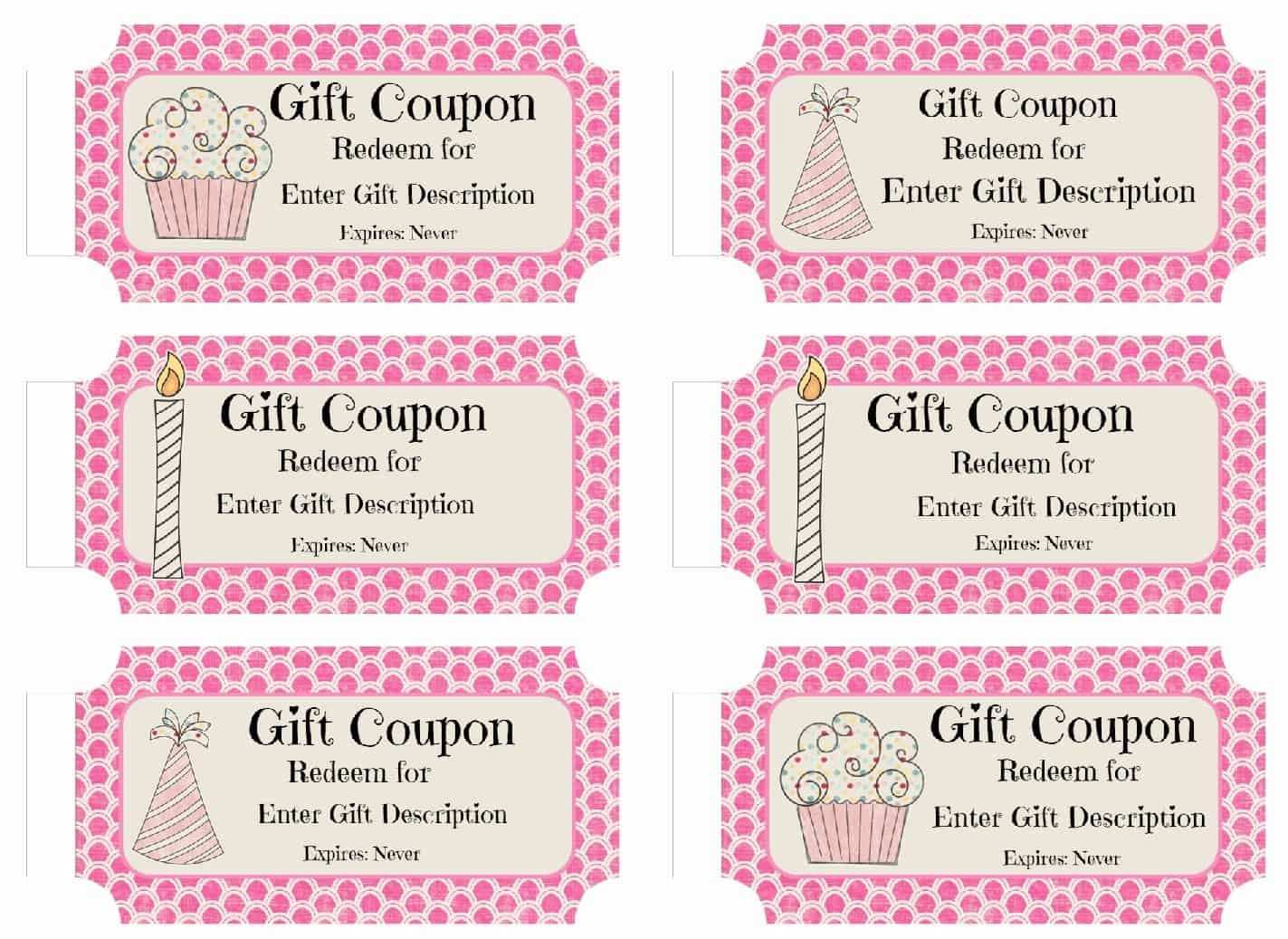 Free Custom Birthday Coupons - Customize Online & Print At Home - Create Your Own Coupon Free Printable