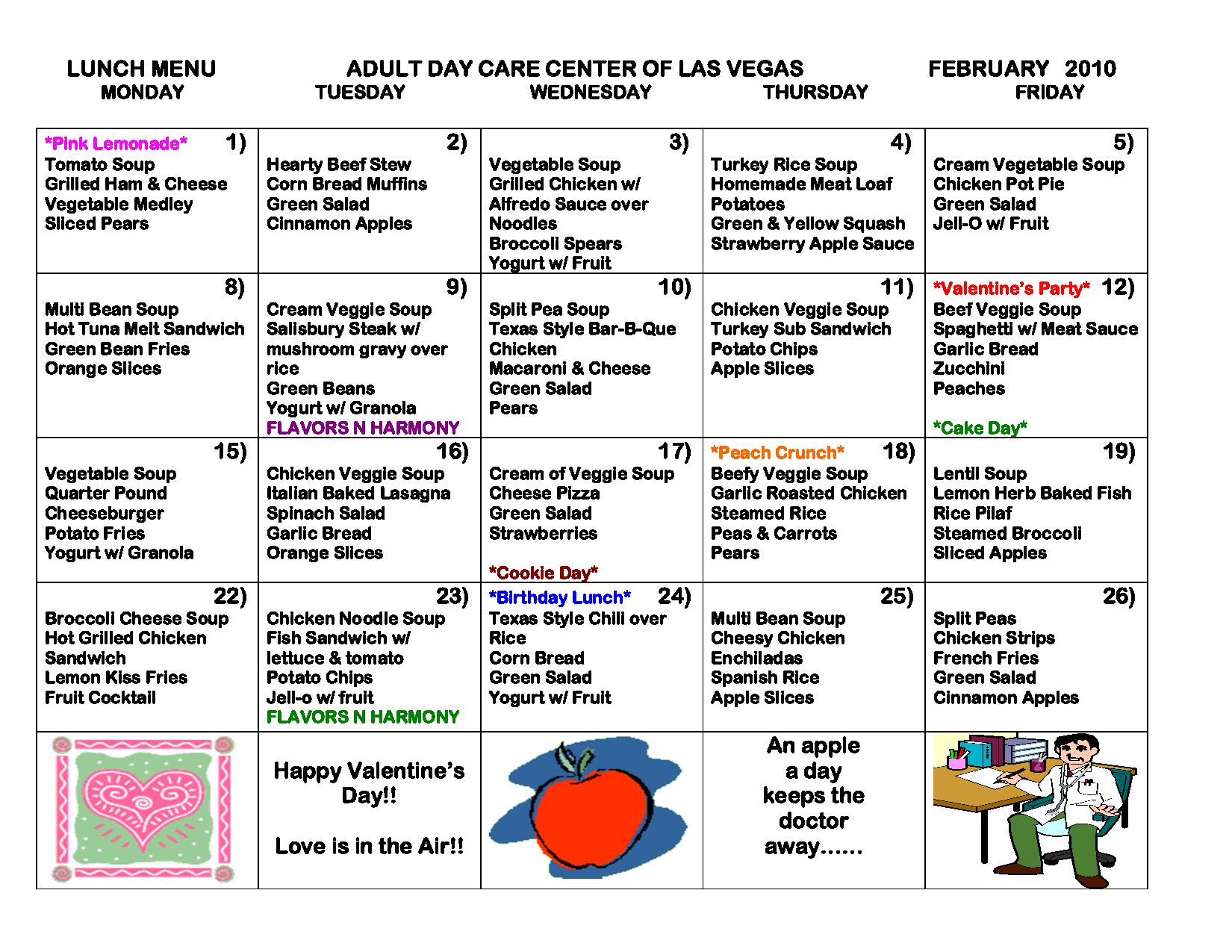 Free Daycare Menus To Print | Similiar Printable Blank Day Care - Free Printable Daycare Menus