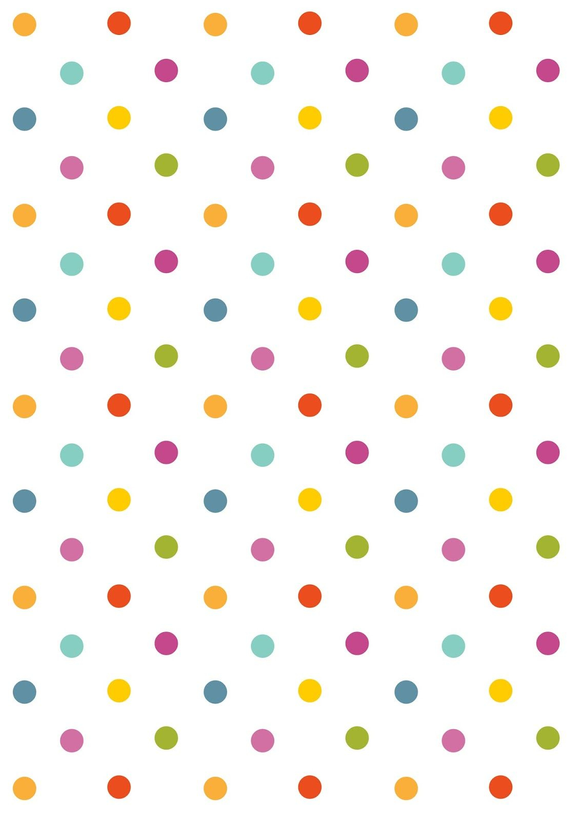 Free Digital Polka Dot Scrapbooking Paper - Ausdruckbares - Free Printable Wallpaper Patterns