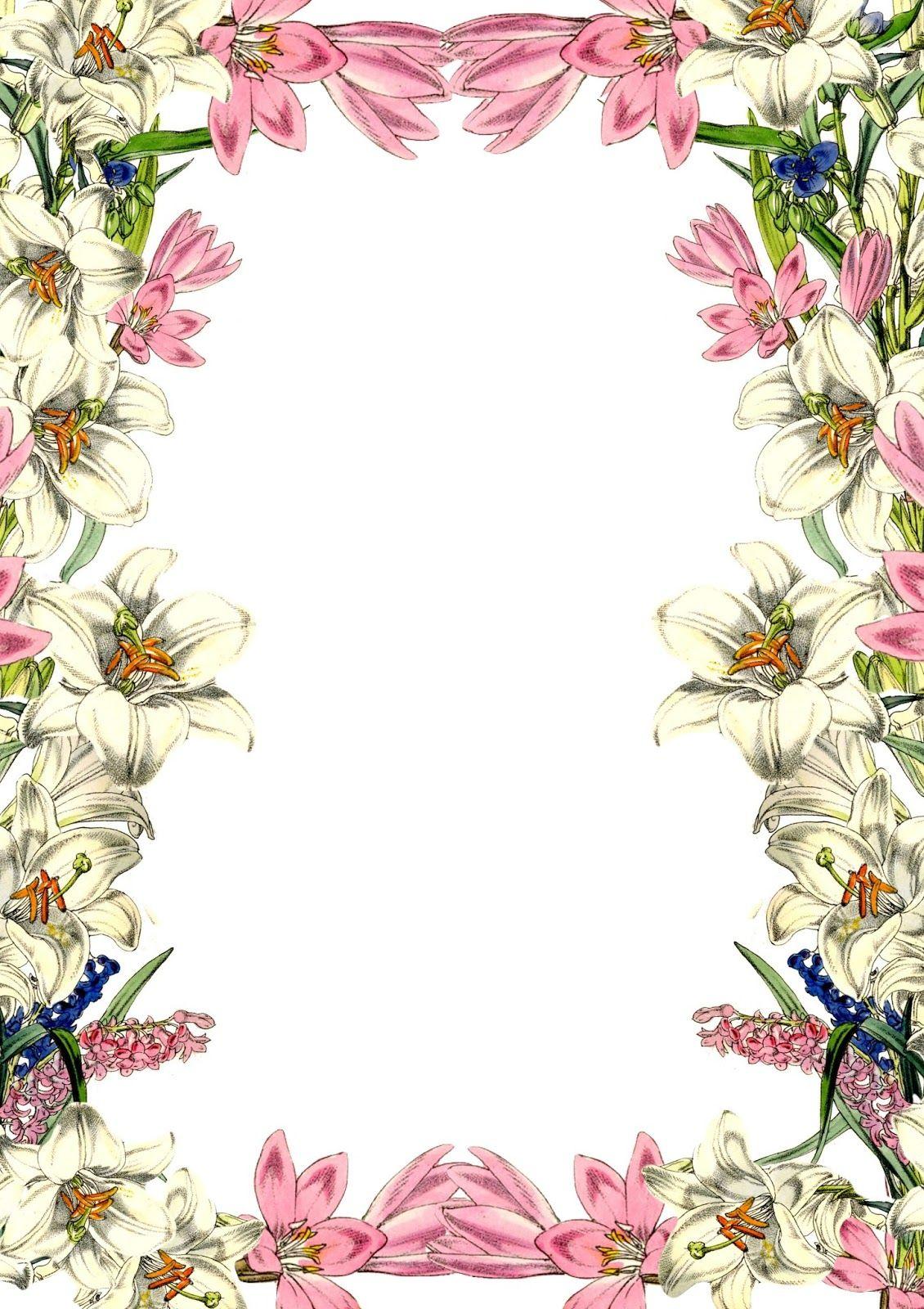 Free Digital Vintage Flower Scrapbooking Paper - Ausdruckbares - Free Printable Flowers