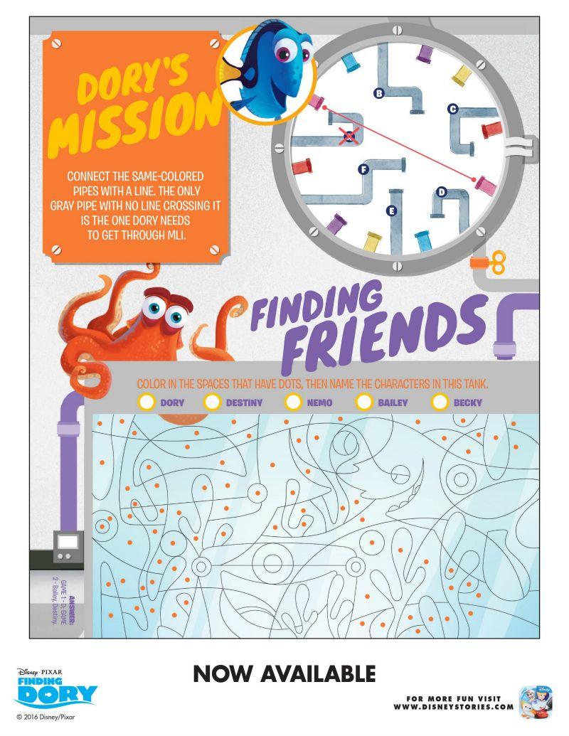 Free Disney Finding Dory Puzzles   Free Printables   Pinterest - Free Printable Disney Stories
