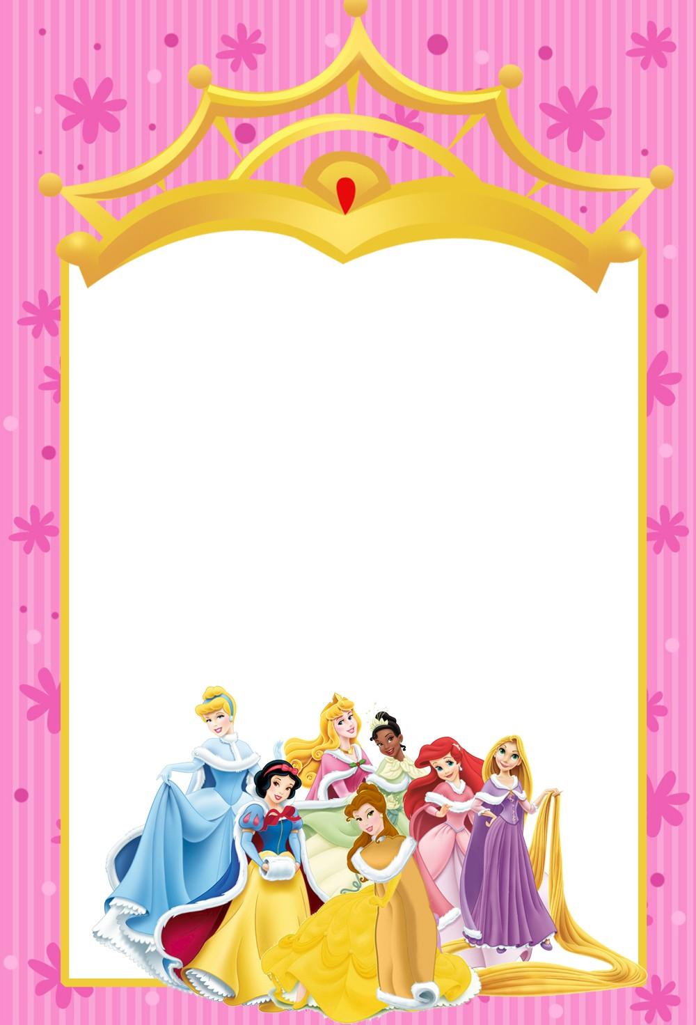 Free Disney Invitation Templates F Cool Disney Princess Birthday - Free Printable Disney Invitations
