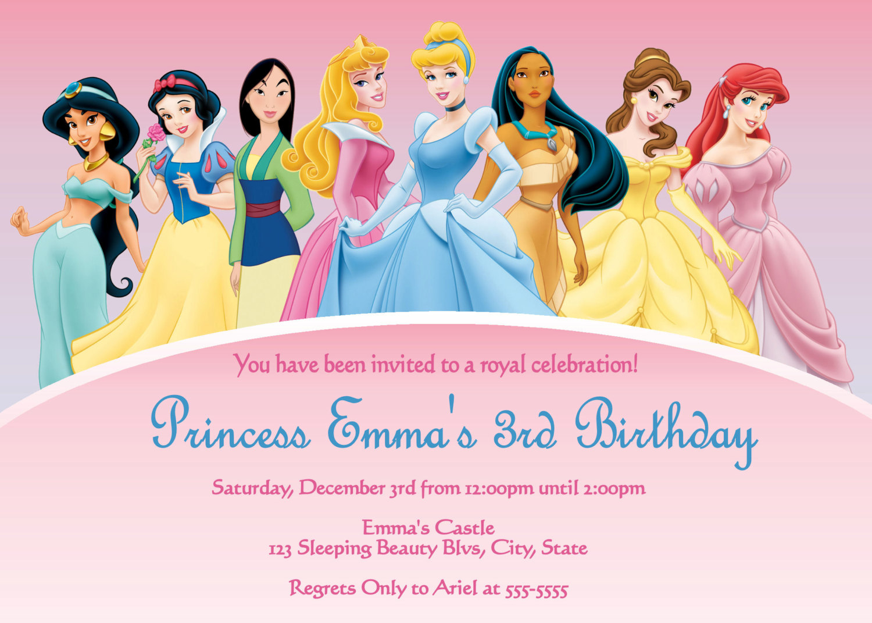 Free Disney Invitation Templates - Free Printable Disney Invitations