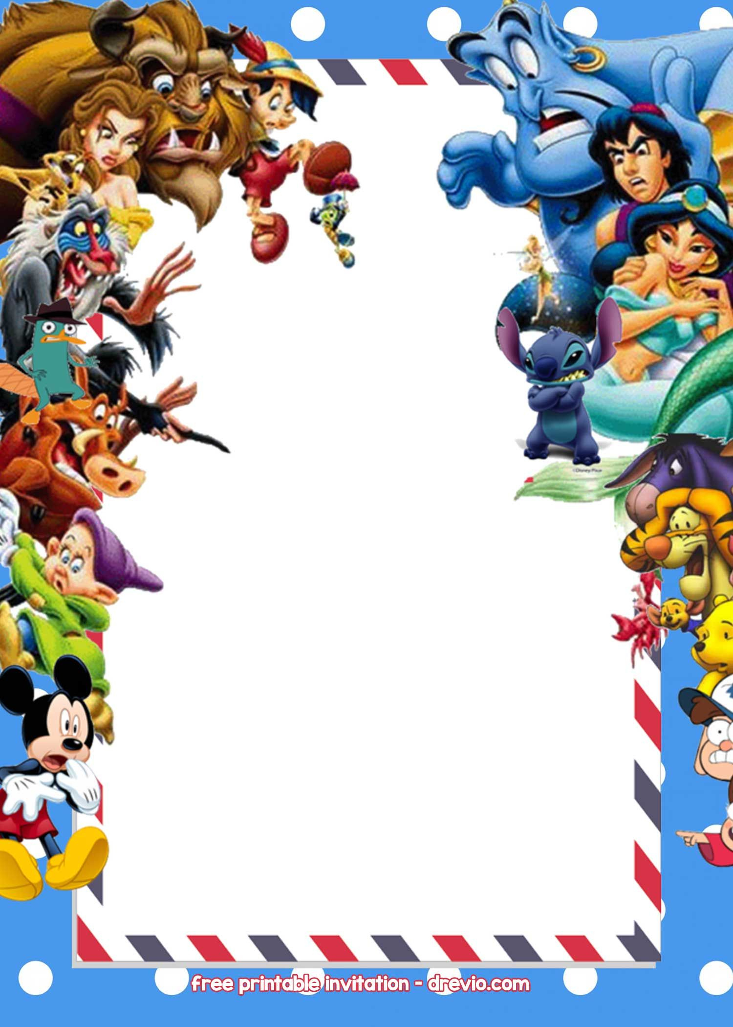 Free Disney Invitations Templates   Free Printable Birthday - Free Printable Disney Invitations
