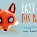 Free Diy Fox Mask Template And Tutorial: Make Your Own 3D Red Fox   Free Printable Paper Masks