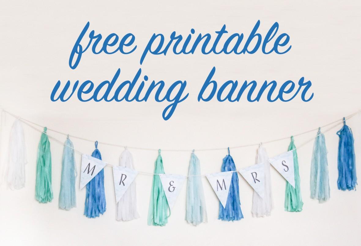 Free Diy Printable Wedding Banner   The Budget Savvy Bride - Free Printable Wedding Banner Letters