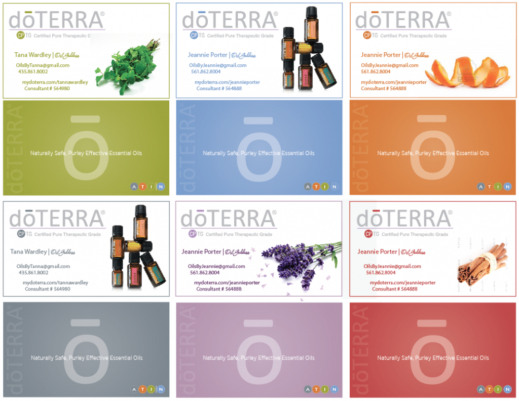 Free Doterra Business Cards - Guardians Designs Within Free - Free Printable Doterra Sample Cards