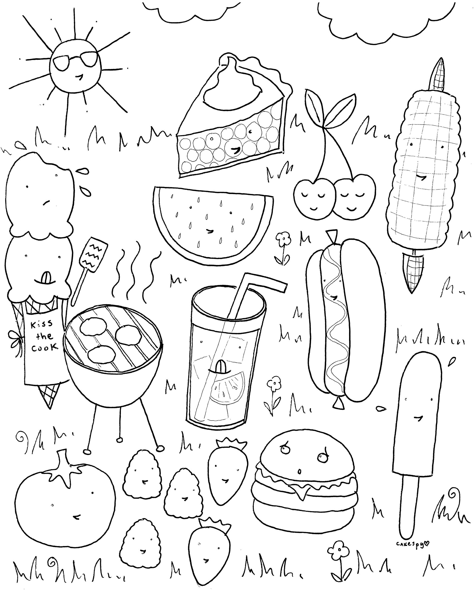 Free Downloadable Summer Fun Coloring Book Pages | Ideen Für Kinder - Summer Coloring Sheets Free Printable