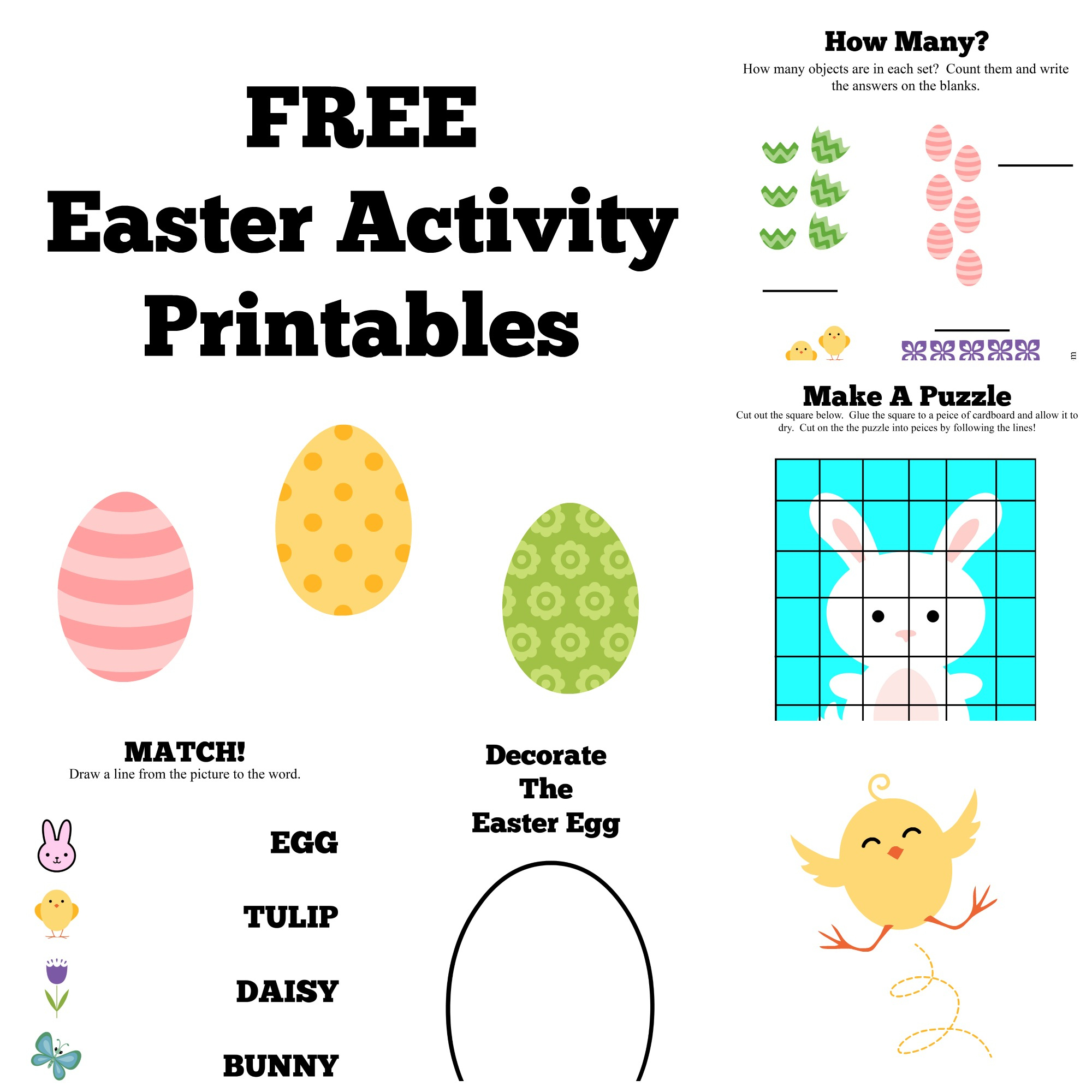 Free Easter Activity Printables {Craft & Learn} - - Free Printable Craft Activities