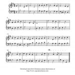 Free Easy Christmas Piano Sheet Music, O Come, All Ye Faithful   Christmas Piano Sheet Music Easy Free Printable