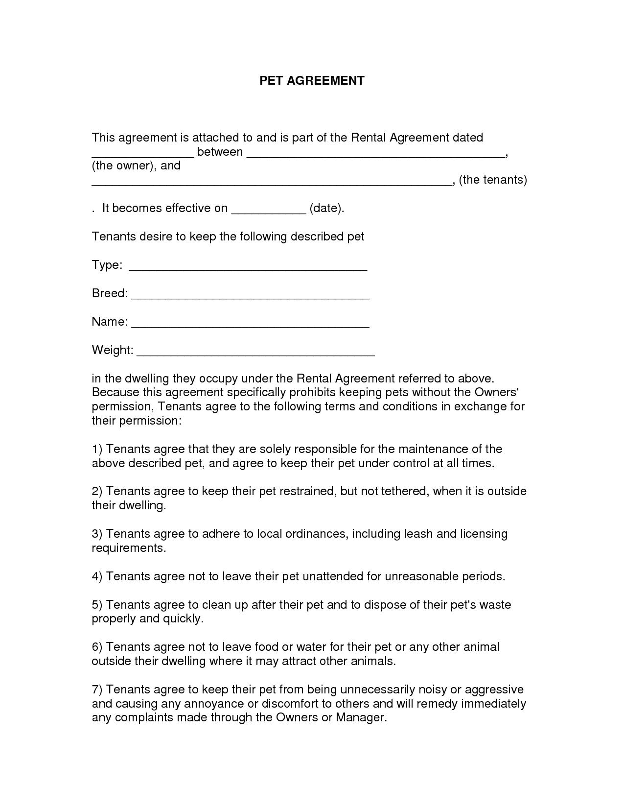 Free Easy Lease Agreement To Print | Free Printable Lease Agreement - Free Printable Lease Agreement Texas