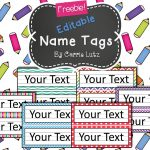 Free Editable!! Chevron, Dots Or Rainbow.simple Name Tags Type In   Free Printable Name Tags For Preschoolers