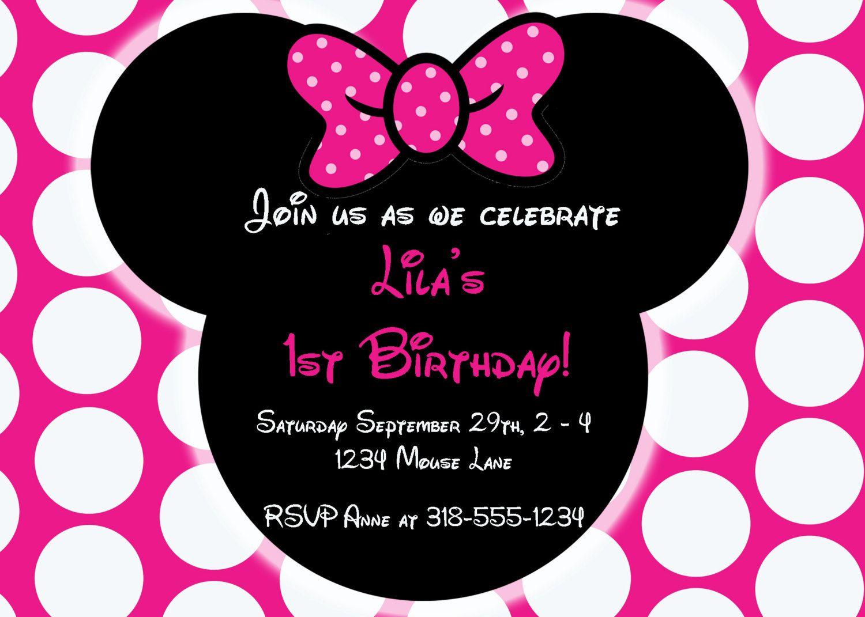 Free Editable Minnie Mouse Birthday Invitations   Minnie Mouse Sba - Free Printable Minnie Mouse Party Invitations