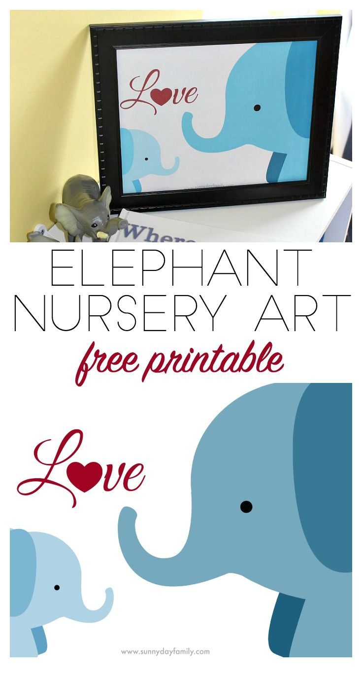 Free Elephant Nursery Printable Inspiredwhere You Go, I Go - Free Printable Elephant Images