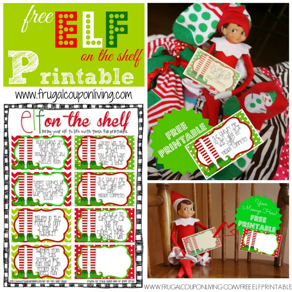 Free Elf On The Shelf Printable Notes - Elf On The Shelf Free Printable Ideas