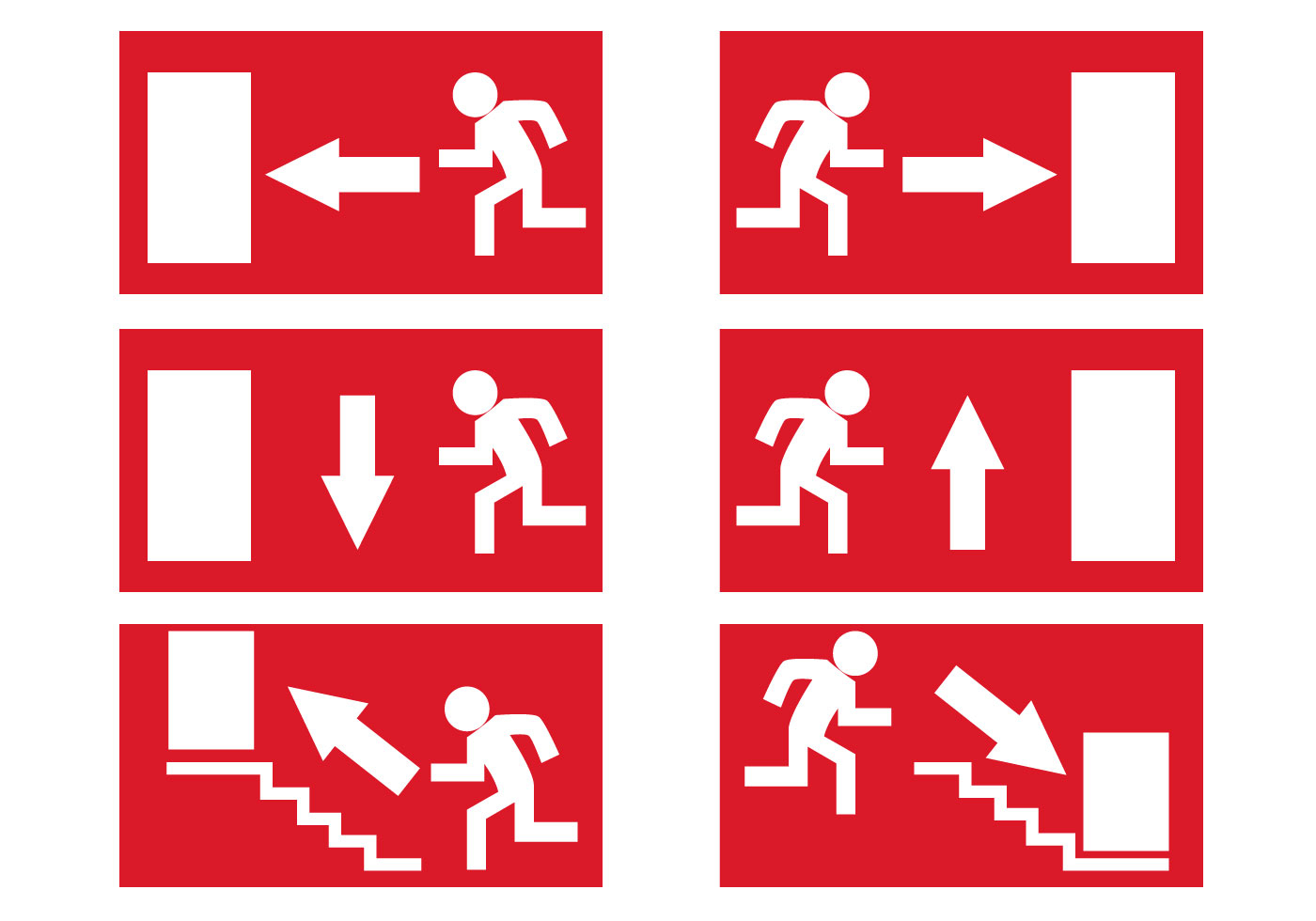 Free Emergency Exit Signs Vector - Download Free Vector Art, Stock - Free Printable Emergency Exit Only Signs