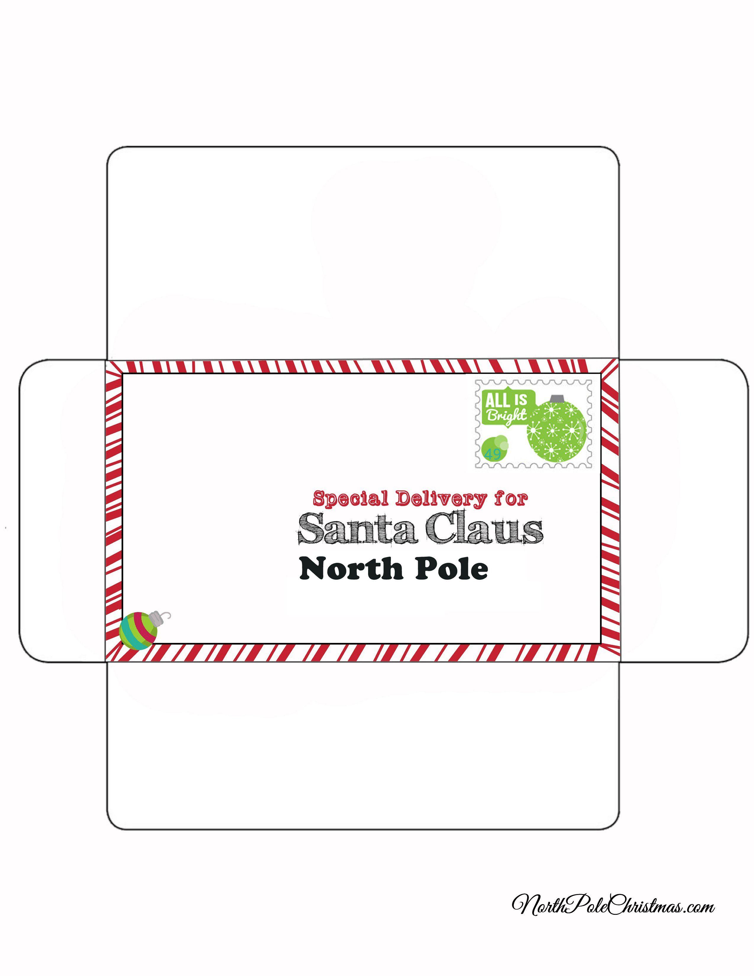 Free Envelope To Go With Your Child's Letter To Santa | Free - Free Printable Envelopes