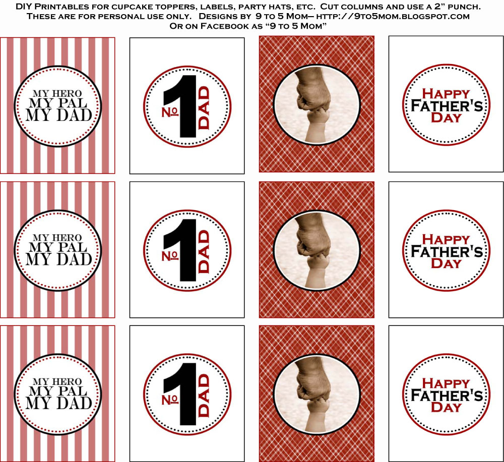 Free Father's Day Printables From 9 To 5 Mom   Catch My Party - Free Printable Party Circles