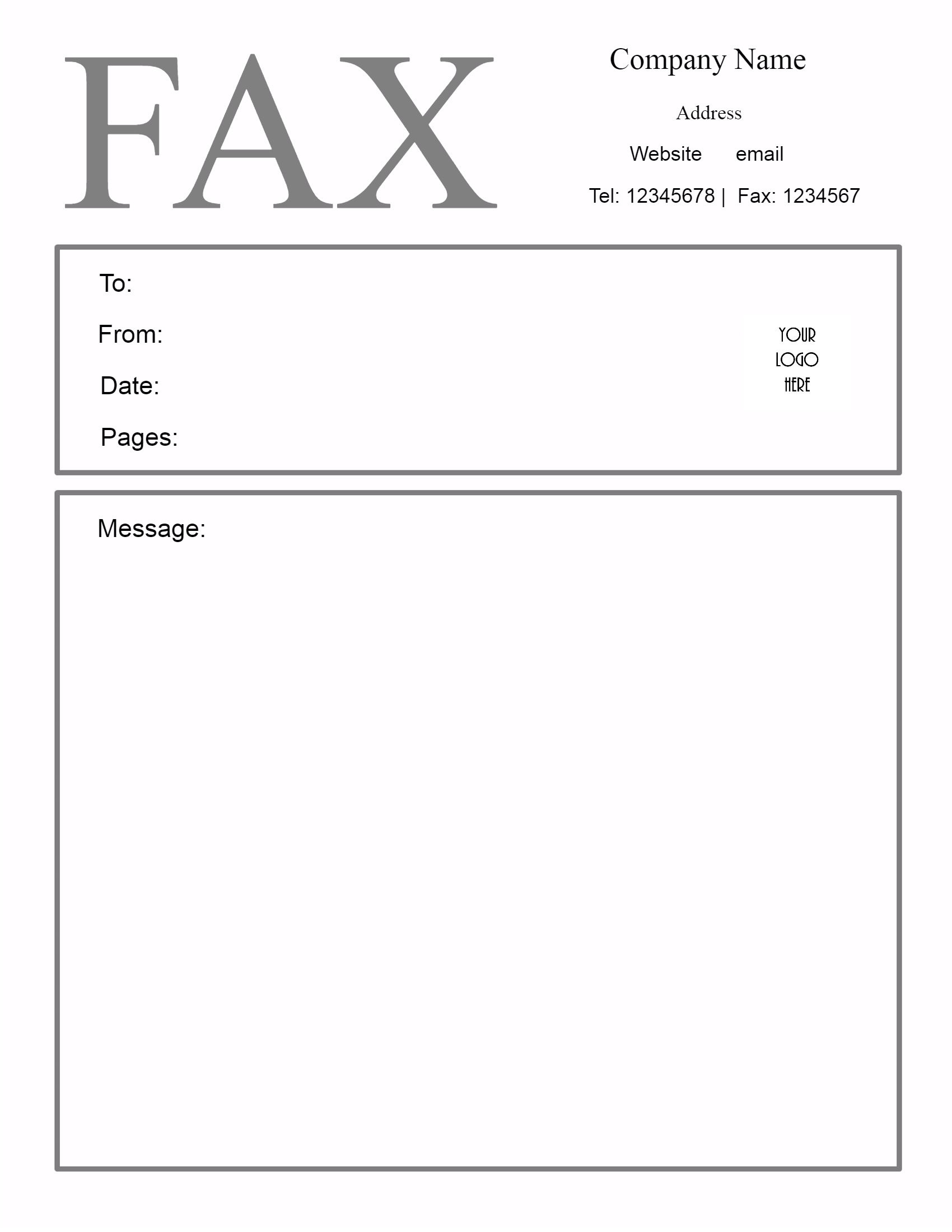 Free Fax Cover Sheet Template | Customize Online Then Print - Free Printable Fax Cover Sheet