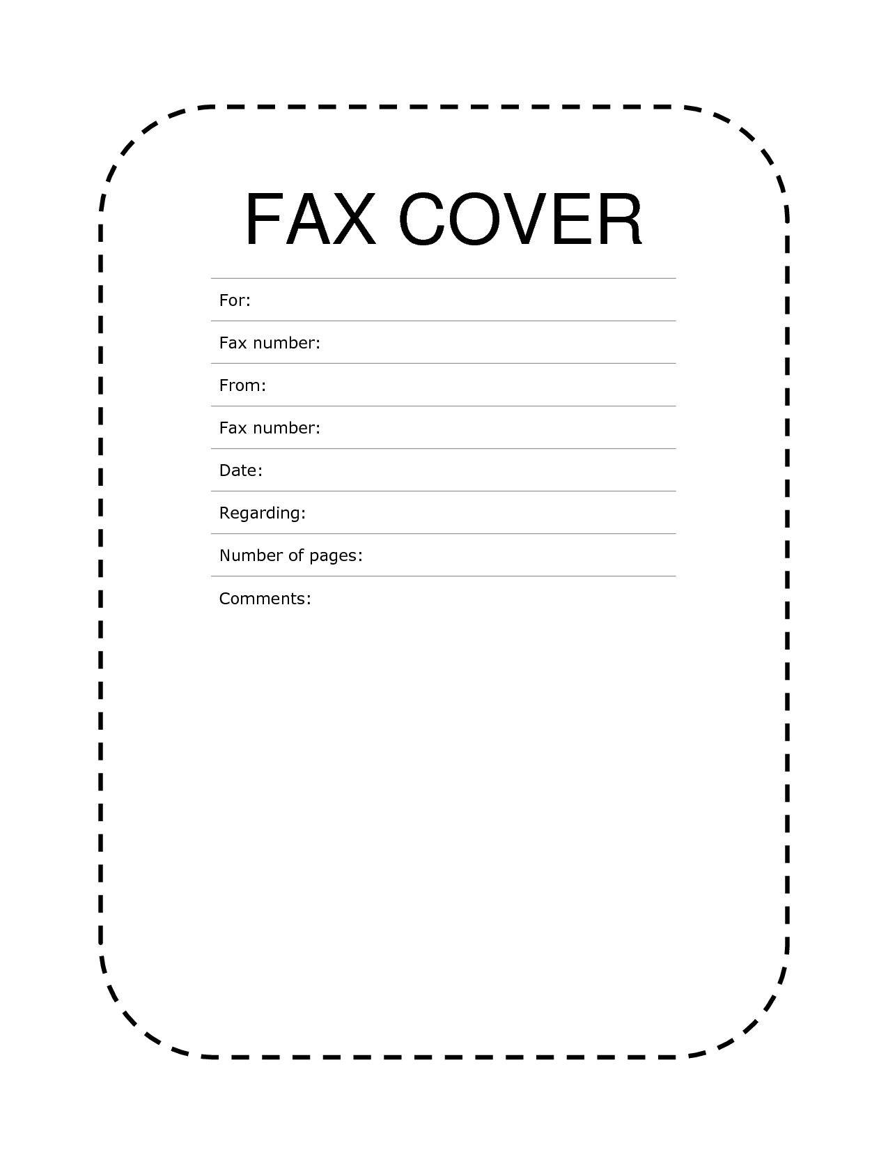 Free Fax Cover Sheet Template Format Example Pdf Printable   Fax - Free Printable Fax Cover Sheet