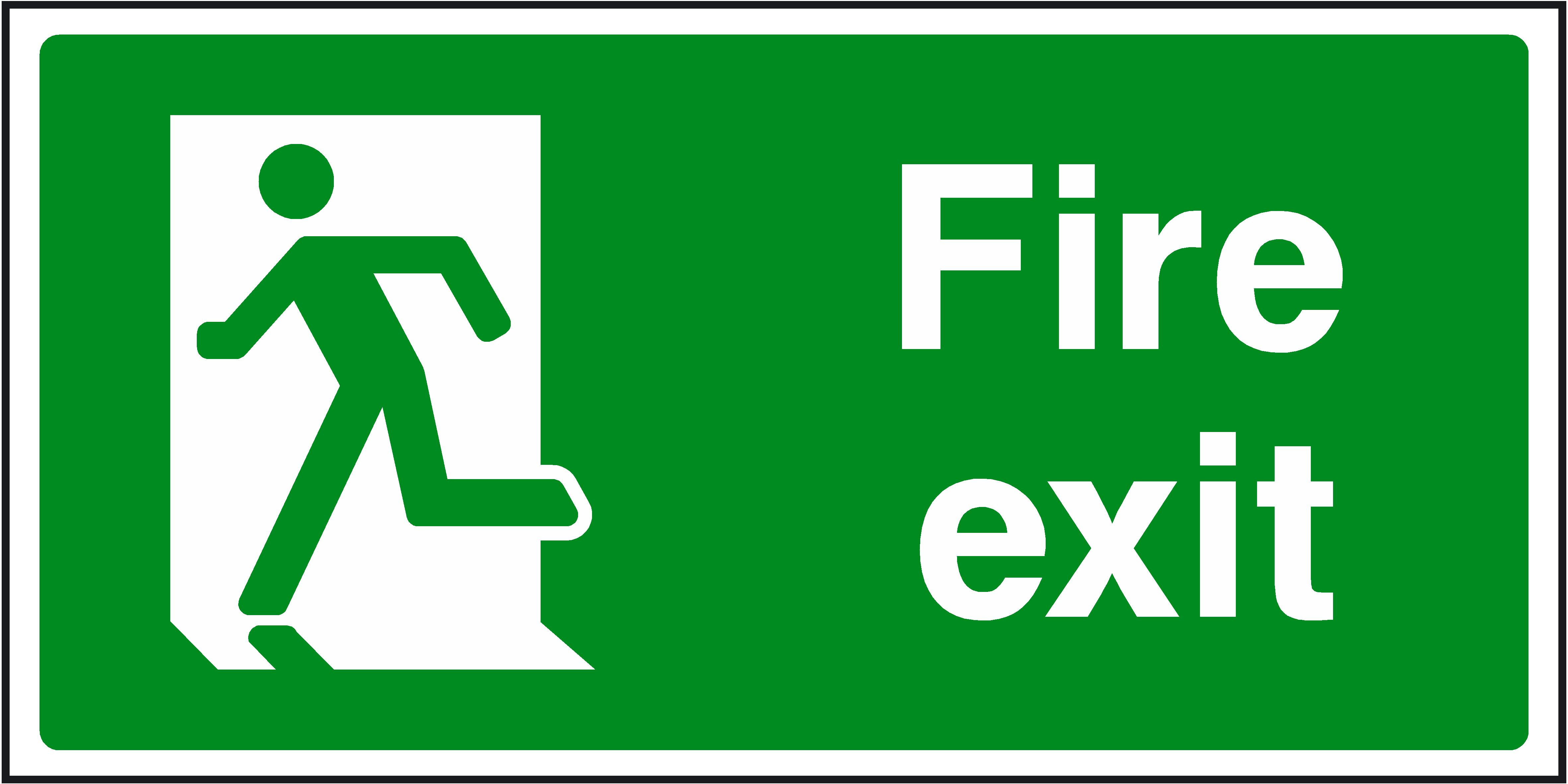 Free Fire Exit Signs, Download Free Clip Art, Free Clip Art On - Free Printable Safety Signs