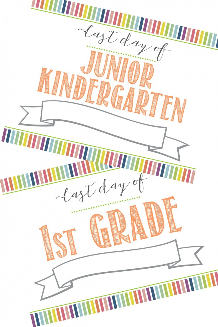 Free First Day Of School Printable Sign (+ Last Day Of School - First Day Of Kindergarten Sign Free Printable