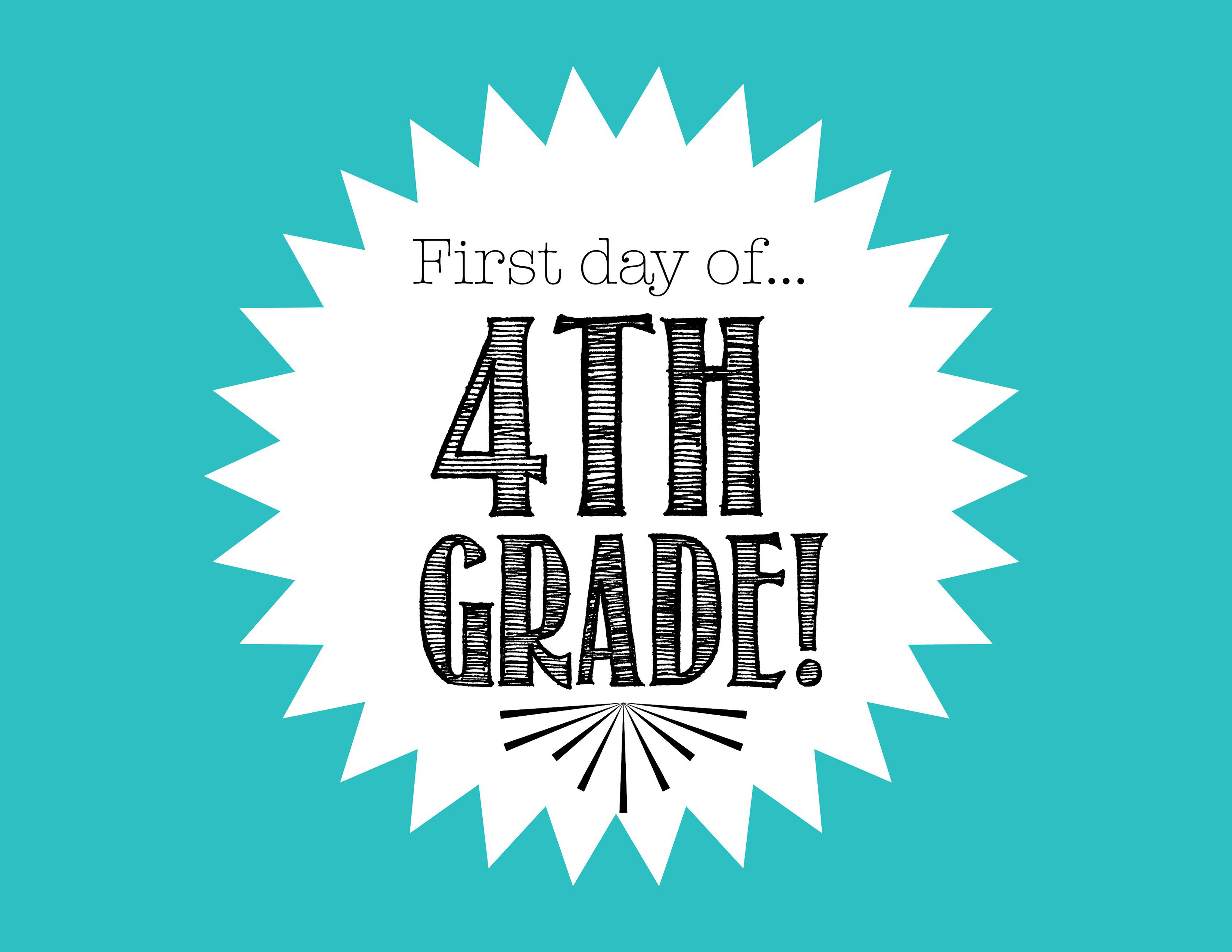 Free First Day Of School Printables - First Day Of 3Rd Grade Free Printable