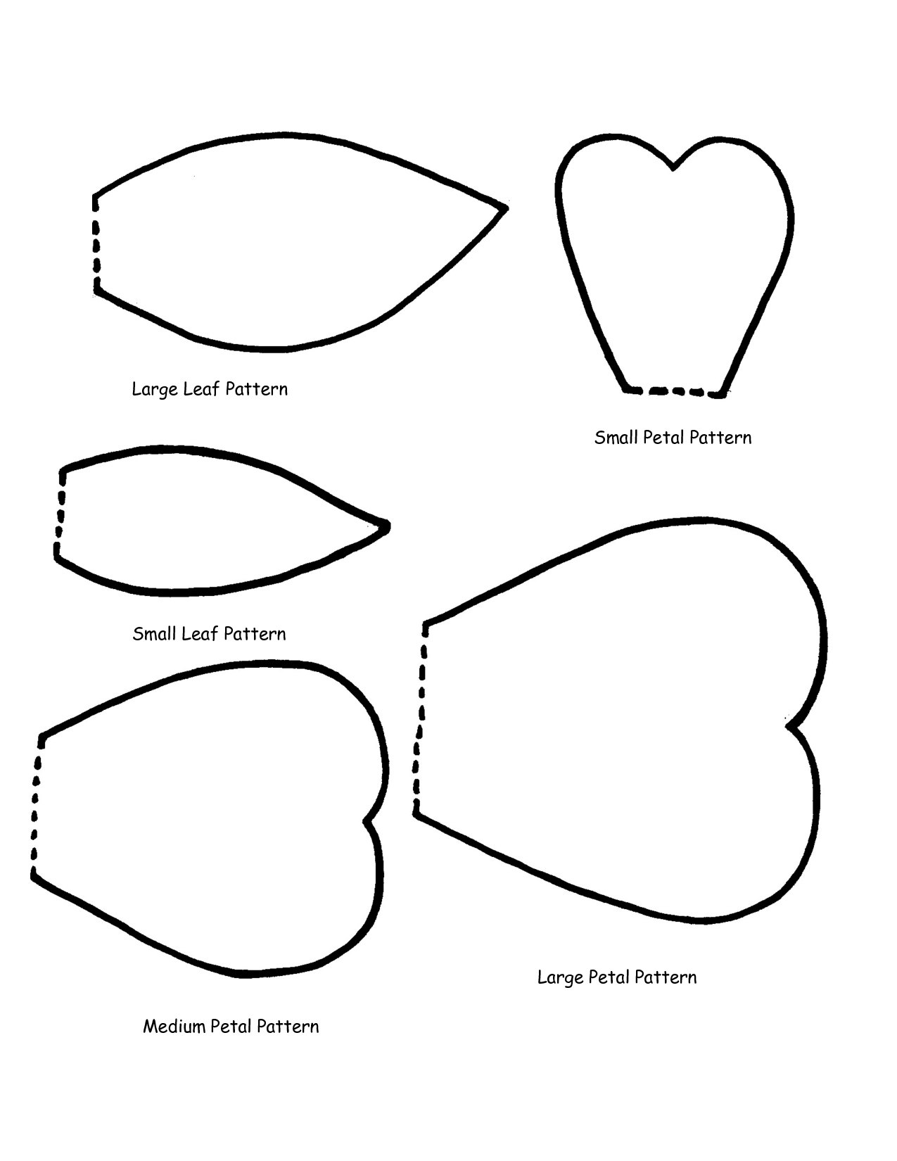 Free Flower Petals Template, Download Free Clip Art, Free Clip Art - 5 Petal Flower Template Free Printable
