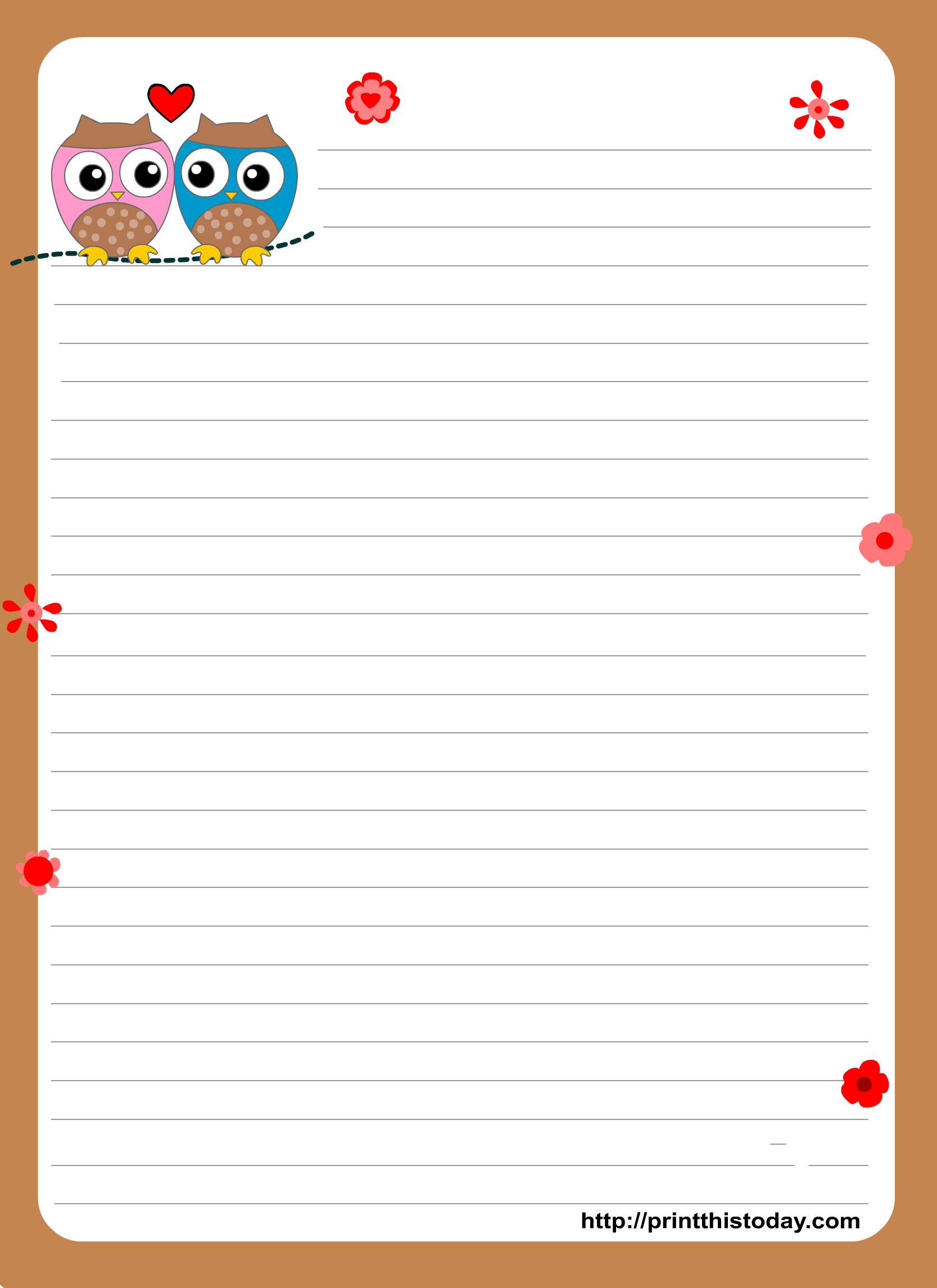 Free Free Printable Border Designs For Paper, Download Free Clip Art - Free Printable Writing Paper With Borders