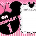Free Free Printable Minnie Mouse Birthday Invitations | Bagvania   Free Printable Minnie Mouse Invitations