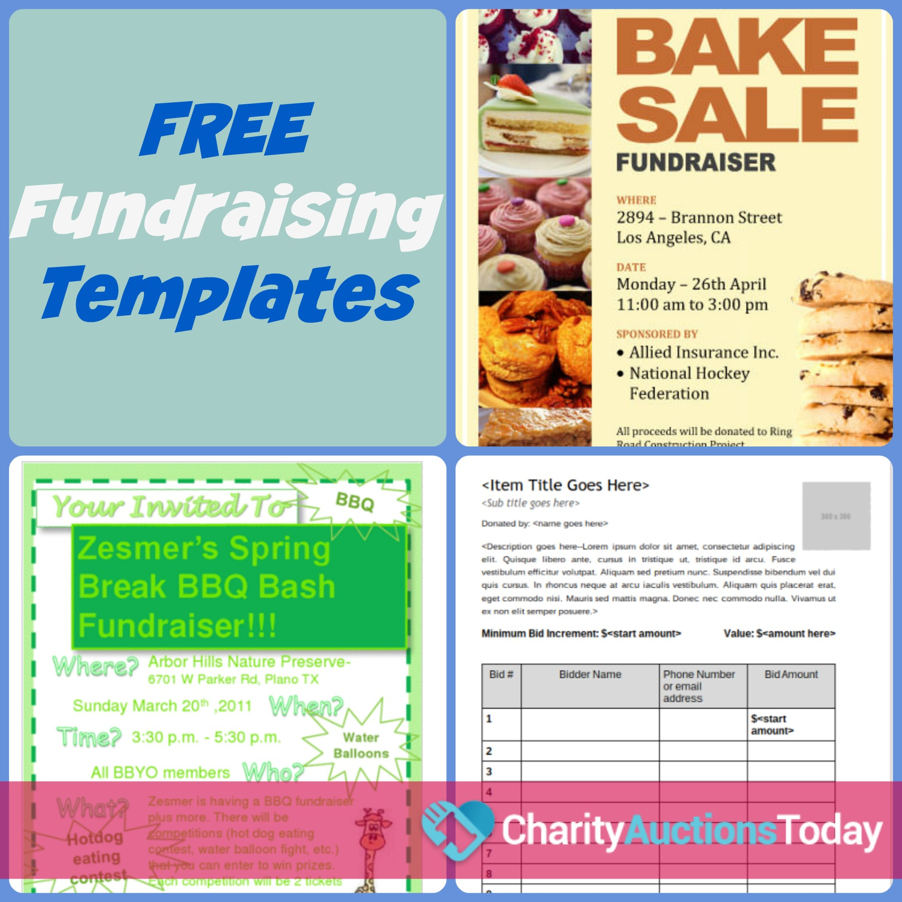 Free Fundraiser Flyer   Charity Auctions Today - Free Printable Brochure Templates