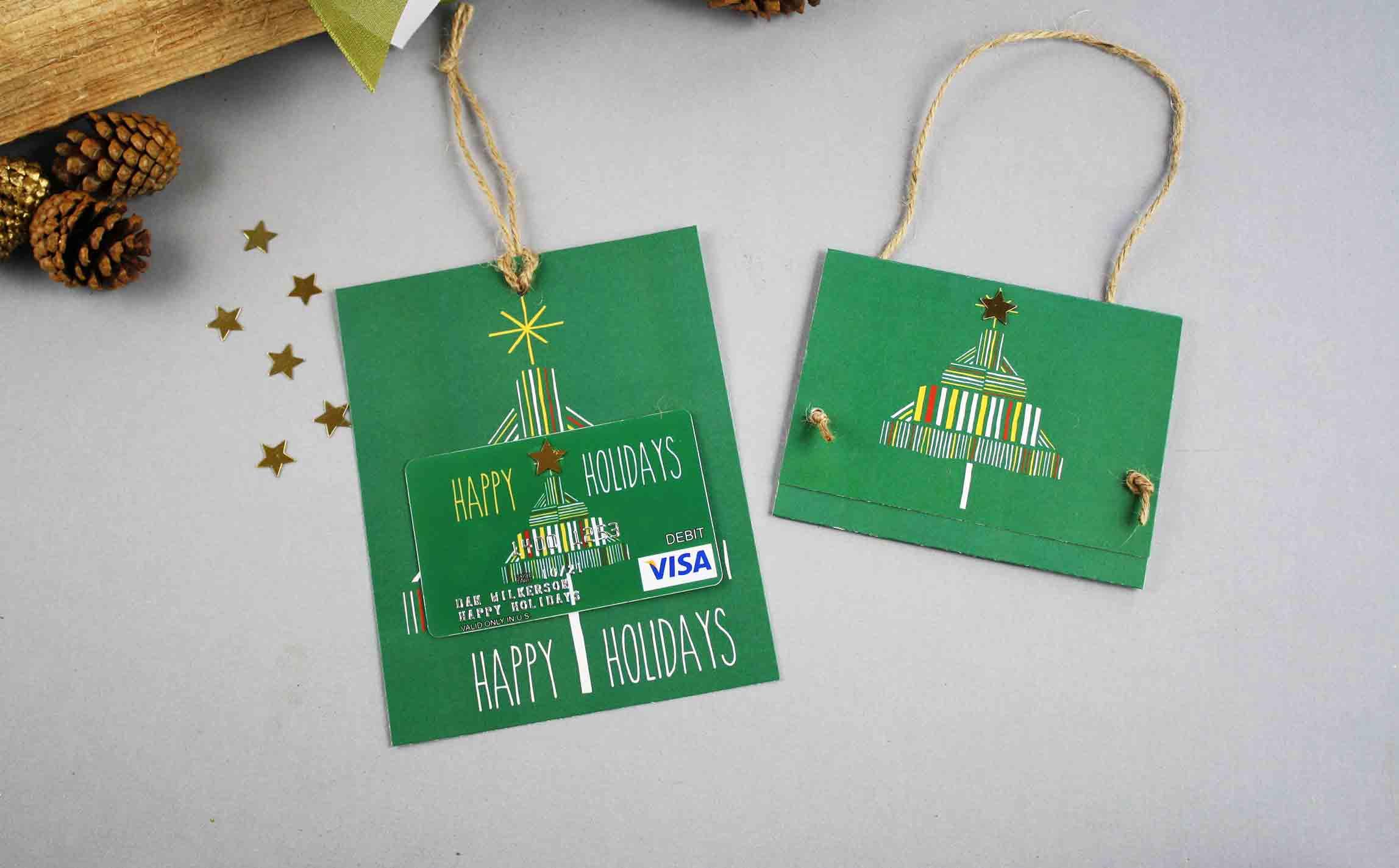 Free Gift Card Printable: Happy Holidays | Gcg - Make A Holiday Card For Free Printable