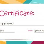 Free Gift Certificate Templates You Can Customize In Free Printable   Free Printable Gift Coupons