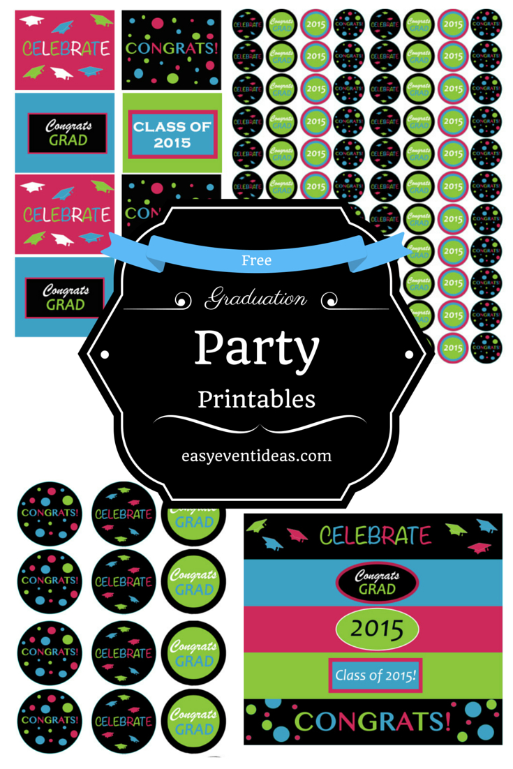 Free Graduation Party Printables 2015 – Easy Event Ideas - Free Printable Graduation Address Labels