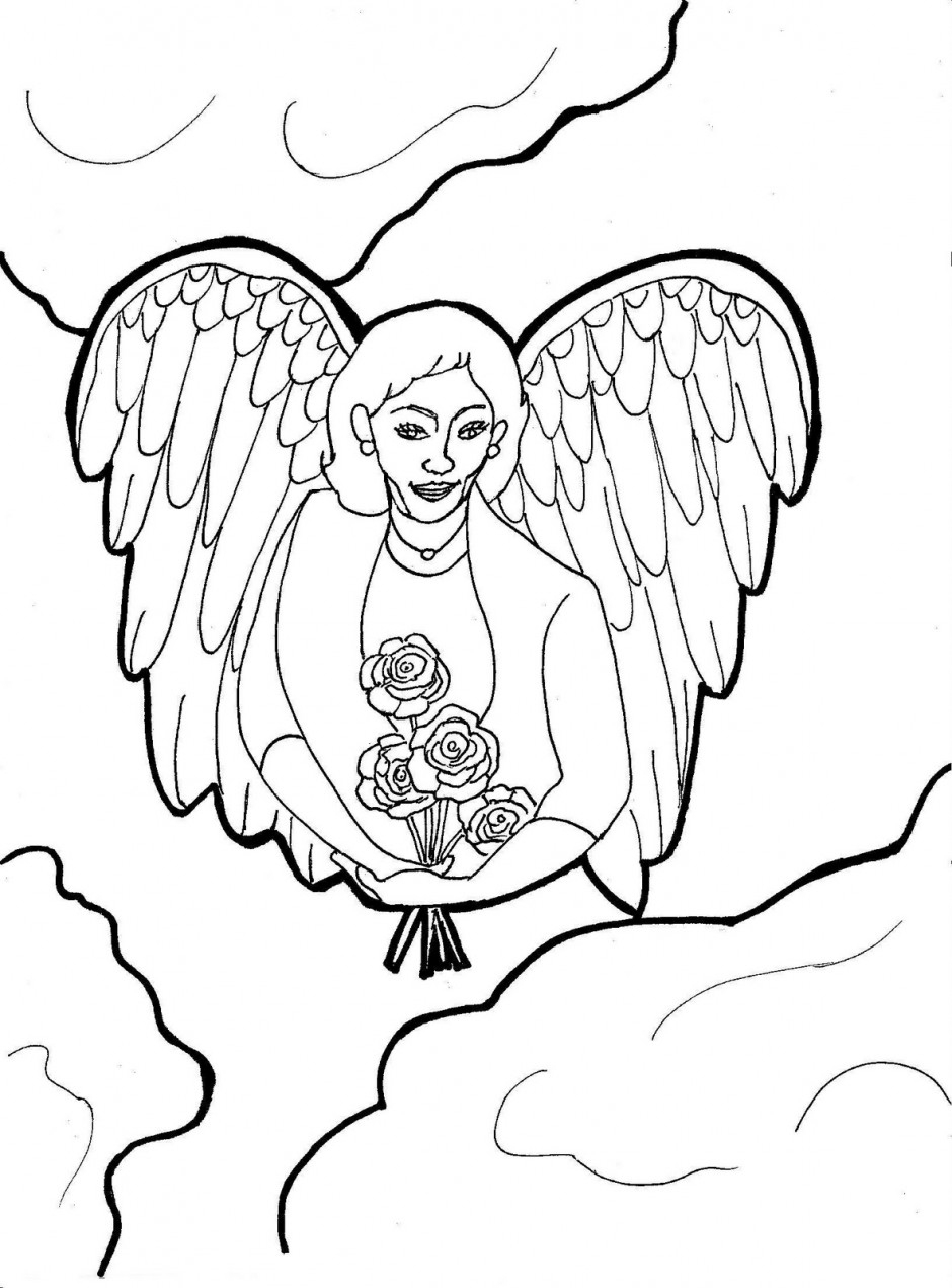 Free Guardian Angel Coloring Pages, Download Free Clip Art, Free - Free Printable Pictures Of Angels