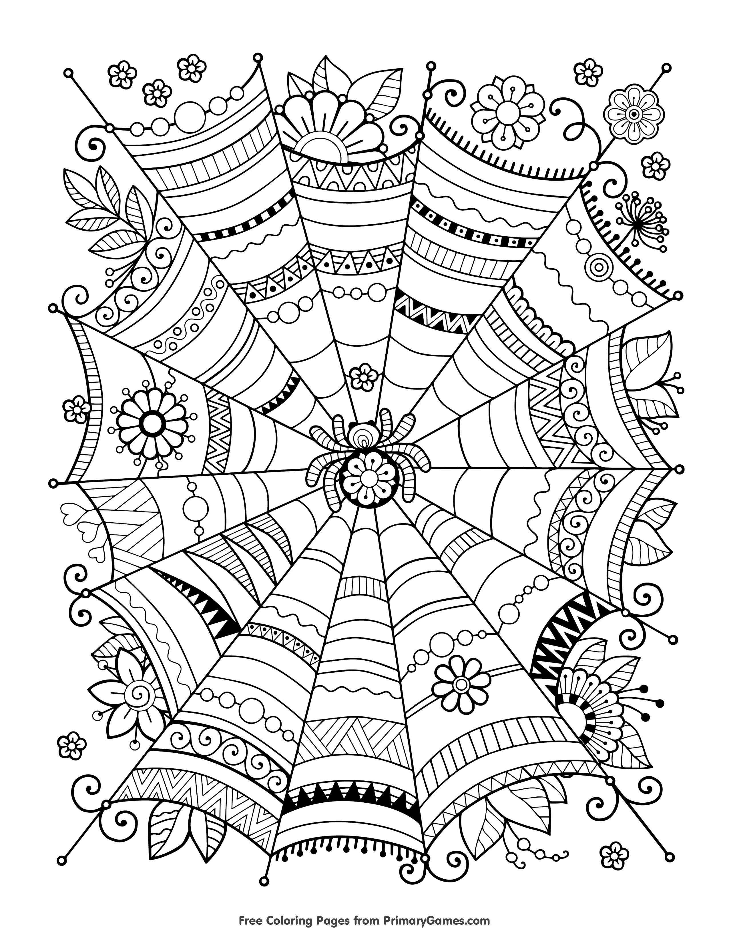 Free Halloween Coloring Pages For Adults & Kids - Happiness Is Homemade - Free Printable Coloring Pages For Adults