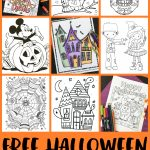 Free Halloween Coloring Pages For Adults & Kids   Happiness Is Homemade   Printable Halloween Cards To Color For Free