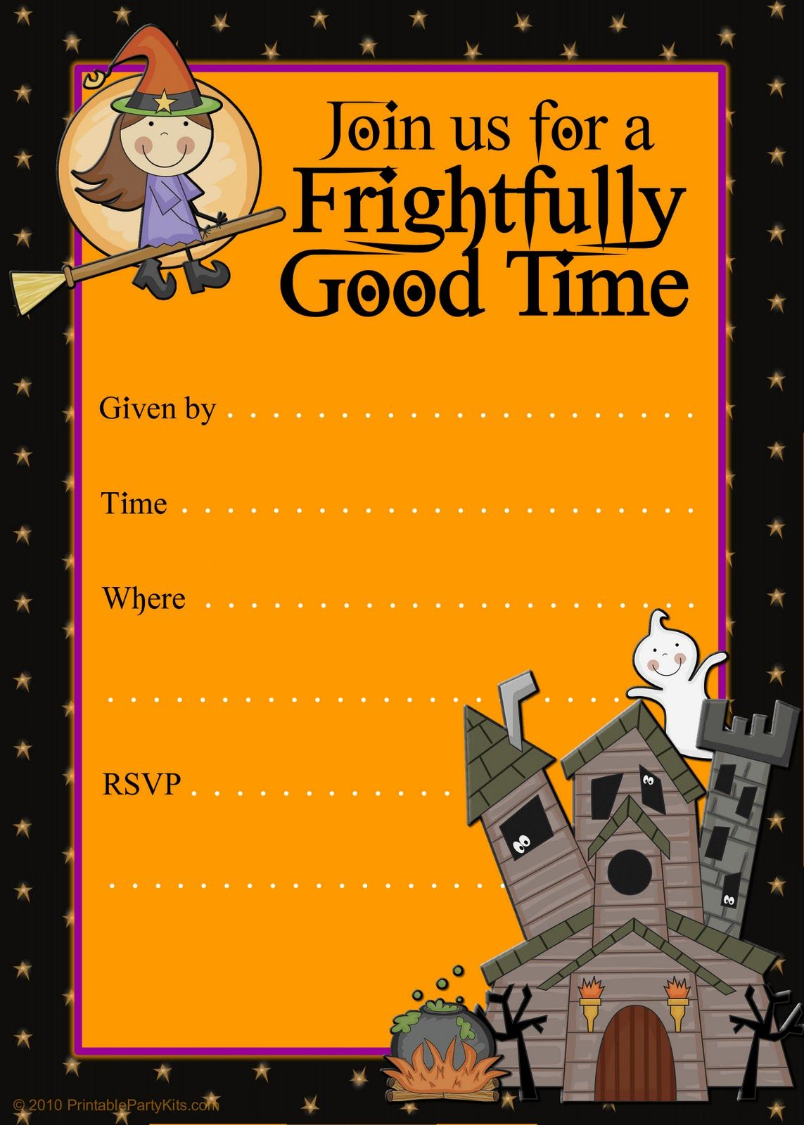 Free Halloween Flyer Invitations Printable | Food | Pinterest - Free Printable Birthday Party Flyers