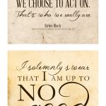 Free Harry Potter Quotes Printables   Free Harry Potter Printable Signs