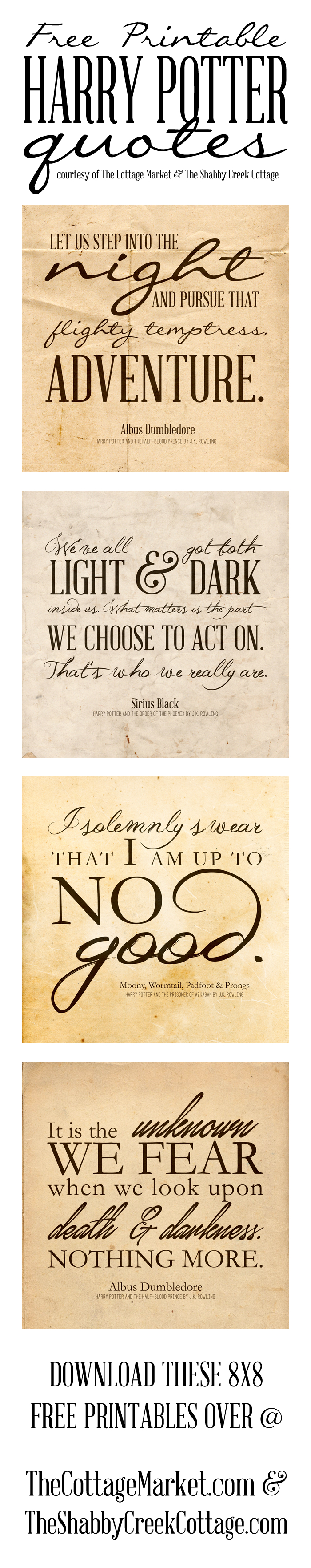 Free Harry Potter Quotes Printables | Pinterest | Harry Potter, Free - Free Printable Harry Potter Posters
