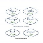 Free Herb Plant Labels For Mason Jars And Pots   The Gardening Cook   Free Printable Herb Labels