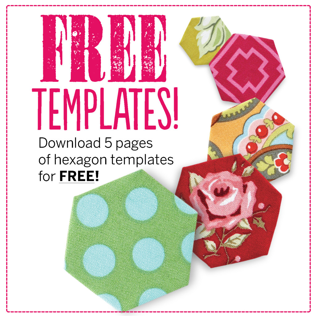 Free Hexagon Template Pdf Download - Love Patchwork & Quilting - Free Printable Quilting Stencils