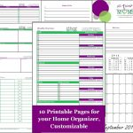 Free Home Organizer Printables! Including Weekly Overview, Bible   Free Printable Home Organizer Notebook